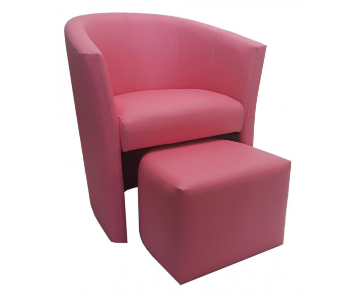 Pink CAMPARI armchair with footrest Pink | Fotele \ Fotele ...