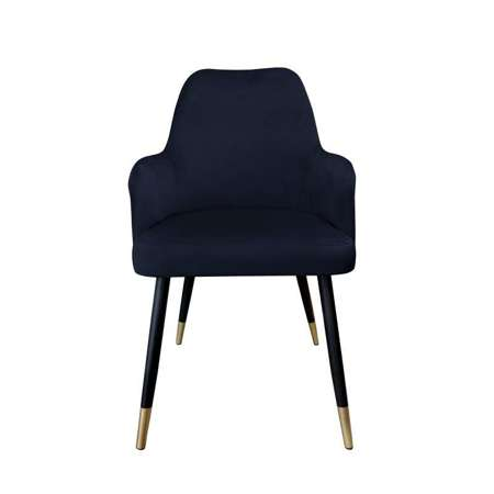Black upholstered PEGAZ chair material MG-19 with golden leg