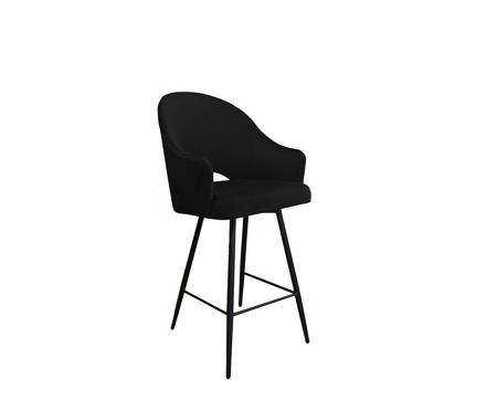 Black upholstered armchair DIUNA armchair material MG-19
