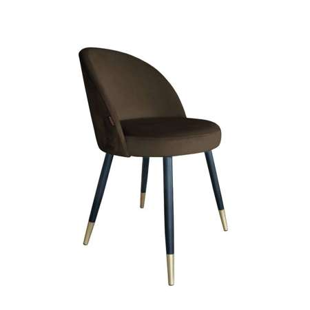 Brown upholstered CENTAUR chair material MG-05 with golden leg