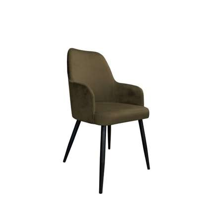 Brown upholstered PEGAZ chair material MG-05
