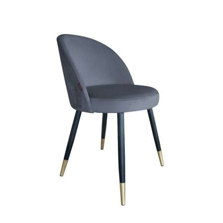 Dark gray upholstered CENTAUR chair material BL-14 with golden leg