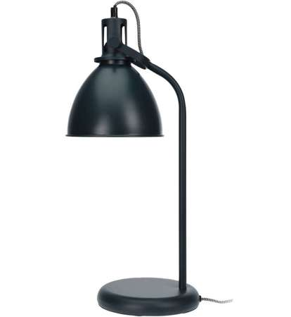 Gloss graphite table lamp