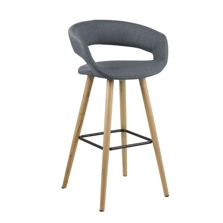Grace dark gray bar stool