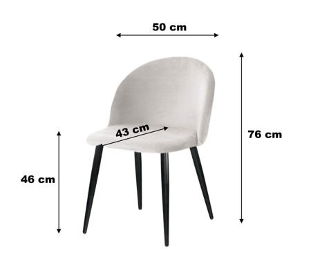 KALIPSO chair gray material MG-17