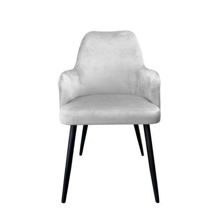 Light gray upholstered PEGAZ chair material MG-39