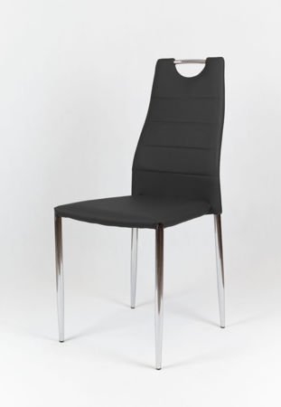 OUTLET SK Design KS005 Black Synthetic Leather Chair with Chrome Rack