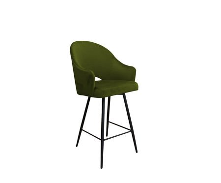Olive upholstered armchair DIUNA armchair material BL-75