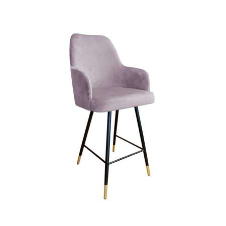 Pink upholstered PEGAZ hoker material MG-55 with golden leg