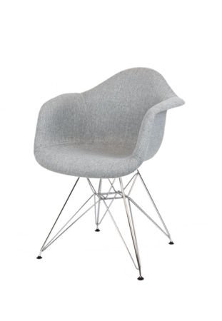 SK DESIGN KR012F UPHOLSTERED ARMCHAIR MUNA08 CHROME