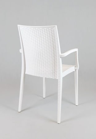 SK DESIGN KR038 WHITE POLYPROPYLENE CHAIR
