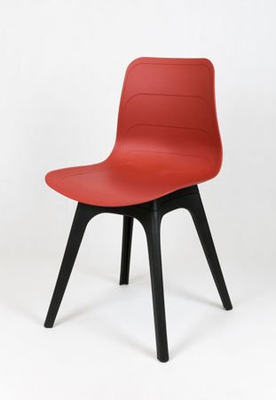 SK DESIGN KR062A BROWN RED POLYPROPYLENE CHAIR