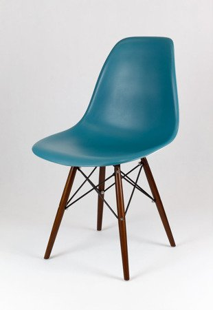 SK Design KR012 Navy Green Chair, Wenge legs