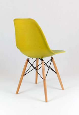 SK Design KR012 Olive Green Chair, Beech Legs