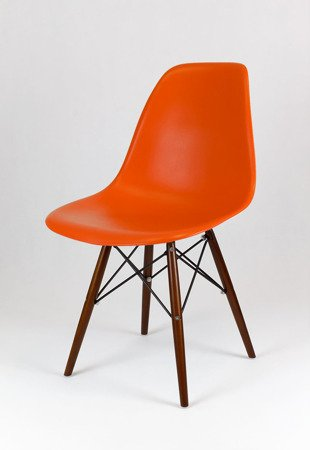 SK Design KR012 Orange Chair, Wenge legs