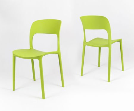 SK Design KR022 Green Polypropylene Chair UFO