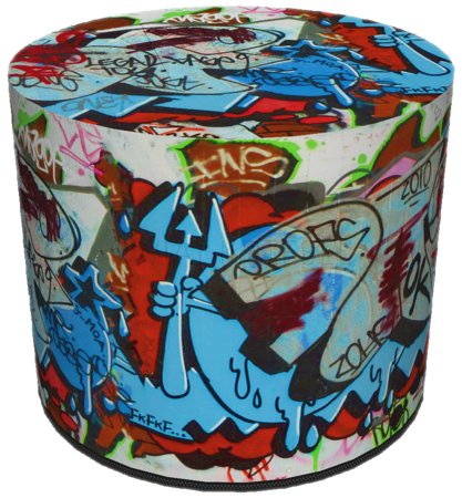 SKP BERTONI DECORATIVE POUF GRAFFITI HD