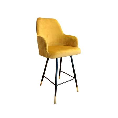 Yellow upholstered PEGAZ hoker material MG-15 with golden leg