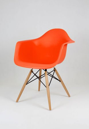 SK DESIGN KR012F ORANGE SESSEL BUCHE