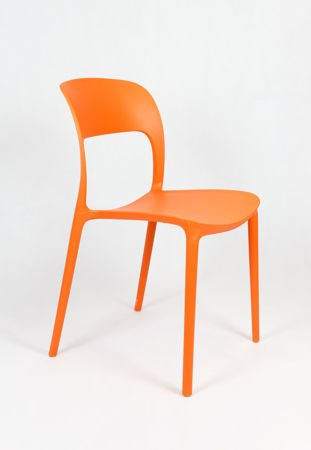 SK DESIGN KR022 ORANGE STUHL AUS POLYPROPYLEN UFO