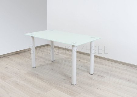 SK DESIGN ST10 WEISS GLAS TABELLE 140 x 75 cm