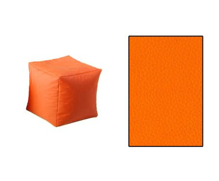 SKN Pouf Orange Cubes
